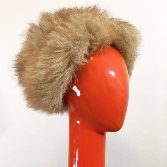 Vintage 60s Pale Brown Faux Fur Hat - image 4