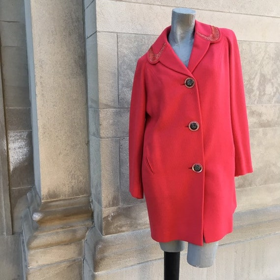 40s Salmon Pink Spring Swing Coat