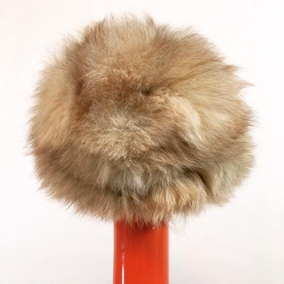 Vintage 60s Pale Brown Faux Fur Hat - image 6