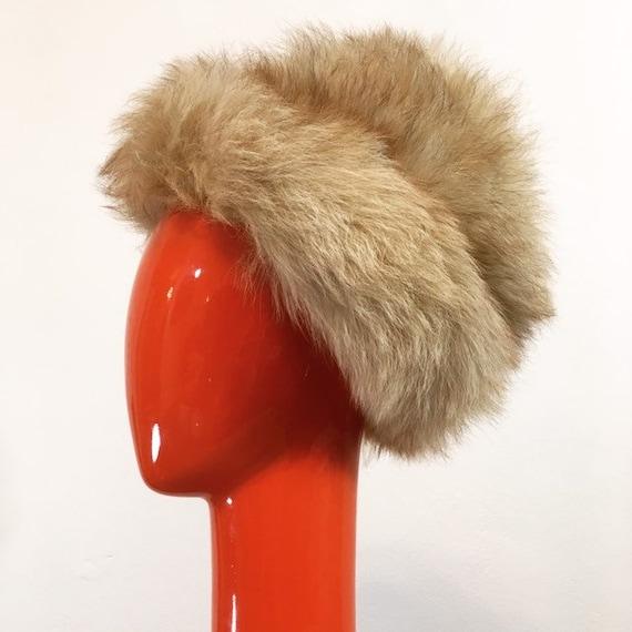 Vintage 60s Pale Brown Faux Fur Hat - image 3