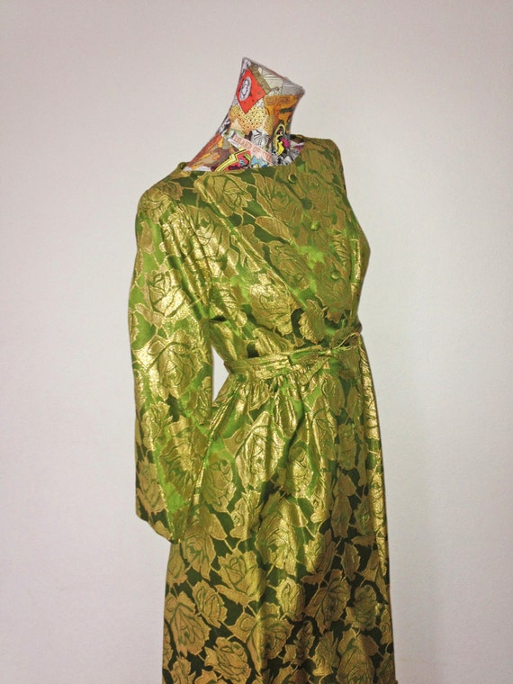 40s Gilded Green Gown                          Int