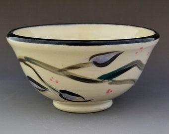 Small Ceramic Hand Painted Serving Bowl - Pottery Dessert Bowl - Ceramic Ice Cream Bowl - Art Functional Bowl