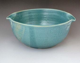 Antique Blue Wheel Thrown Casserole, Bowl, Baking, Cookware