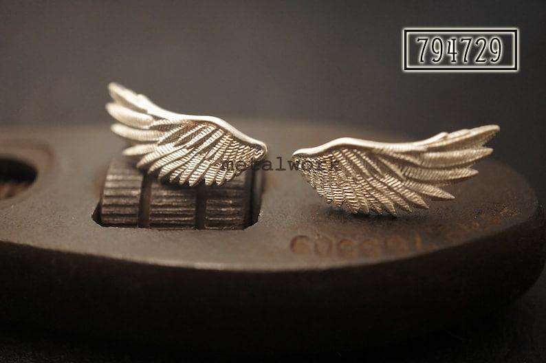New MW E1032 925 Silver Wings Earrings