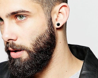75ba2727dfab5f Men's TITANIUM black earring, valentines day gift for him, studs earrings  for men, unique gifts for men, jewelry earrings mens earrings