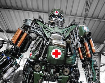 Recycled Metal Gutsy Commando Robot (3.2 m height)