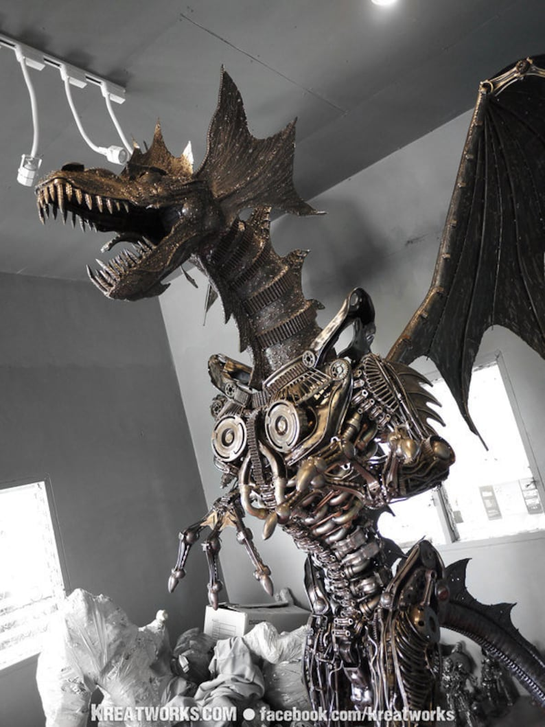 Steampunk The Metal Giant Dragon Made To Order Etsy