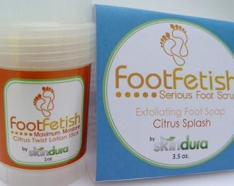FootFetish Combo Kit    Say Goodbye to Dry Rough Feet