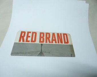 Vintage Red Brand Note or Sketch Pad, Magic Feed Mills, collectable