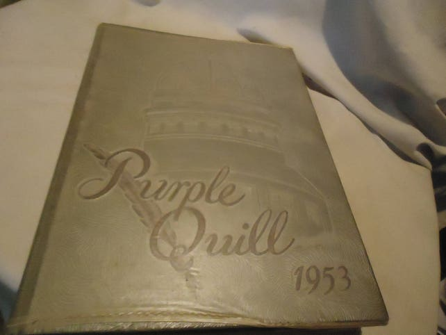 Vintage 1953 Purple Quill Ball High School Yearbook Or Annual Etsy