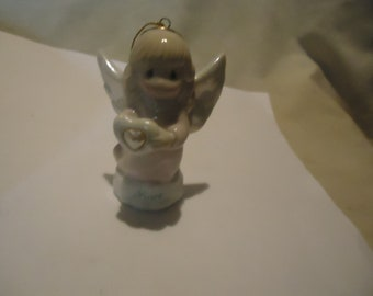 Vintage 1997 Precious Moments June Birthstone Angel Ornament With Box by Enesco Avon, collectable