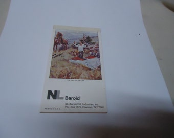 Vintage 1981 NL Baroid Sketch Pad, collectable, book, advertising