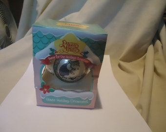 Vintage 1995 Precious Moments Glass Holiday Ornament Winter's Song With Box by Enesco, collectable