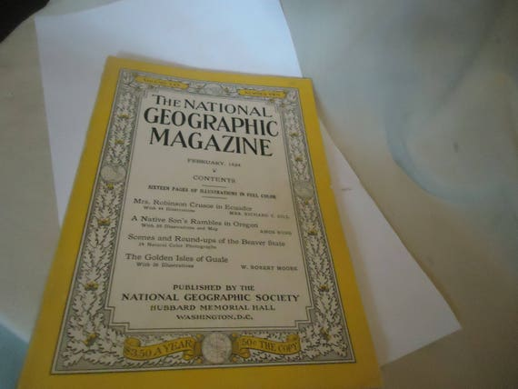 Vintage The National Geographic Magazine February 1934 Vol Lxv Etsy