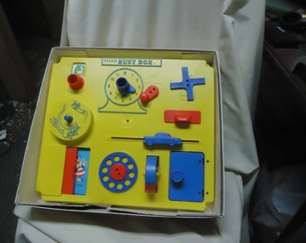 Vintage 1971 Kohner Busy Box Baby Crib Playpen Toy in Box collectable, no 6050