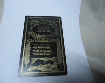 Antique Memorial Obituary Card Of Lodema Fiedler, Gone But Not Forgotten, 1866 to 1909, collectable, vintage