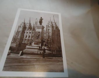 Vintage Salt Lake City Brigham Young Monument Unused Postcard by Custom Tours, collectable,