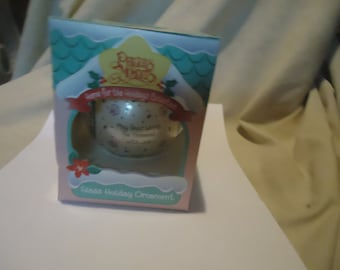 Vintage 1995 Precious Moments Glass Holiday Ornament May Your World Be Trimmed With Joy With Box by Enesco, collectable