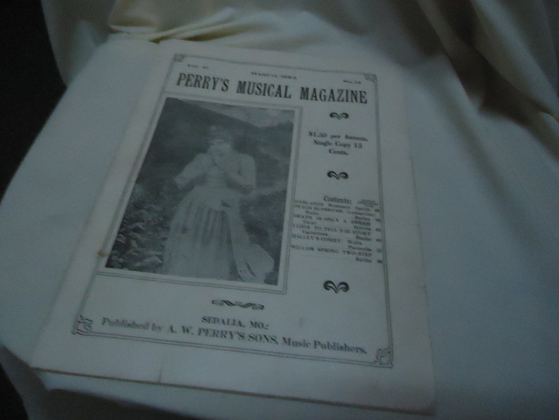 Vintage 1923 Perry's Musical Magazine Sheet Music March image 0