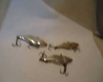 Vintage Lot Of 3 Shad Fishing Lures,  collectable