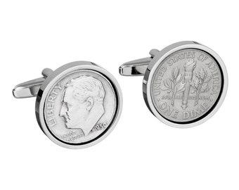 1950 English Sixpence 69th Birthday Gift for Men Lucky English Sixpence Eco Friendly Birthday Gift Year 1950 Coin Lucky Coin Cufflinks
