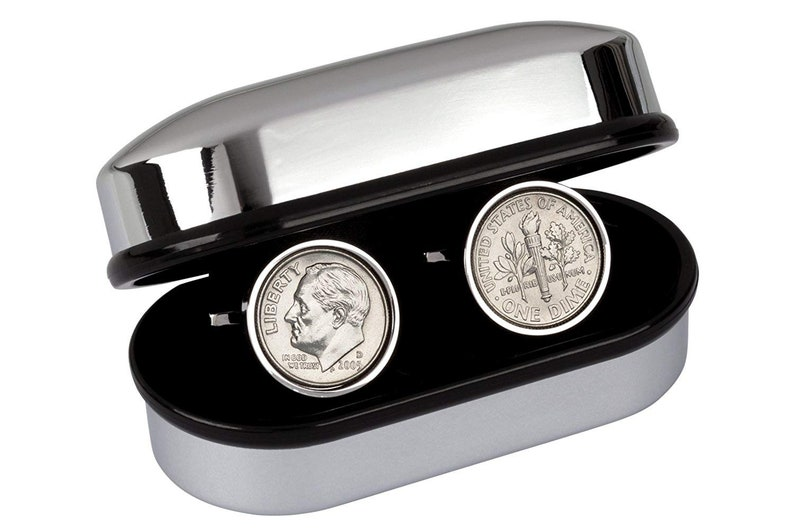 Mint 2005 Coin Cufflinks 14th Wedding Anniversary 100/% Satisfaction Guarantee