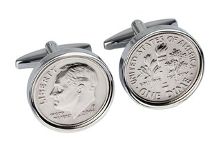 2006 American Dime coin cufflinks -Perfect 13th Anniversary Gift gift for men Gift for Husband genuine 2006 coin Handmade coin cuff links