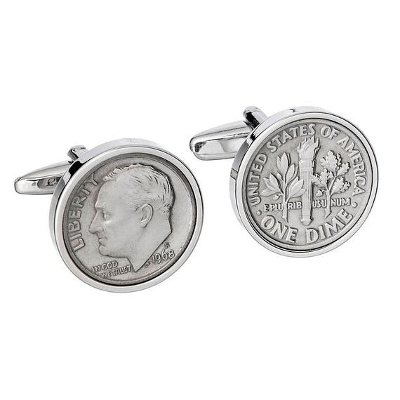 50th Birthday Gift 1968 Coin Cufflinks Presented In