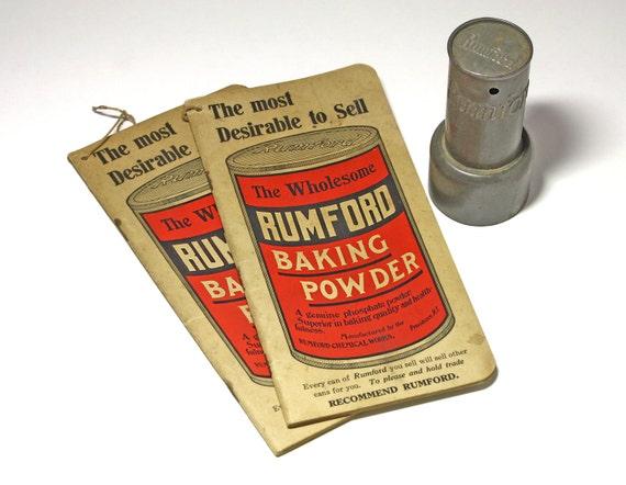 vintage rumford baking powder advertising booklets circa etsy