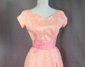 Emma Domb / Lace Dress Vintage 1960s / Formal Gown