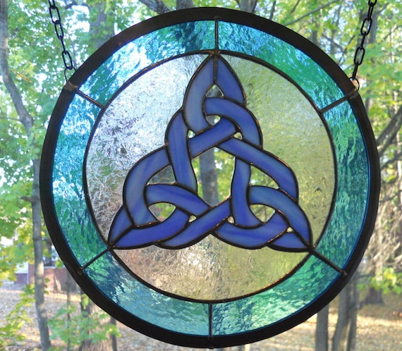 Iridescent Celtic Knot Panel Etsy