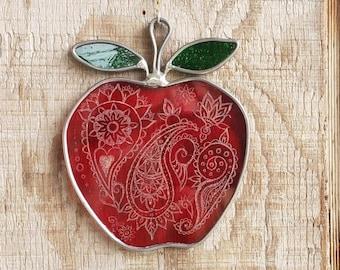 Paisley Apple Suncatcher