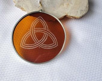 Amber Glass Trinity Suncatcher