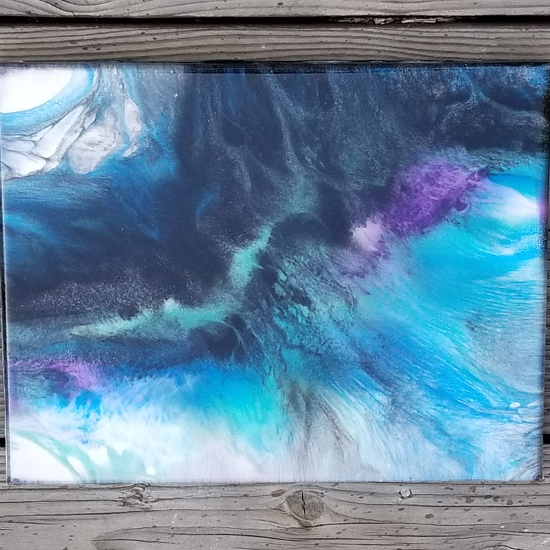 Mixed Media Girl Resin Art, Resin Painting, Epoxy Artwork, Abstract  Painting, 11x14 Wall Hanging - Westward Stab