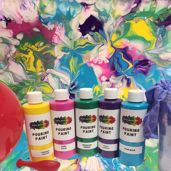 Smashing Balloons acrylic pour paint kit - READ full description
