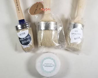 "Miss Mustard Seed Natural Brush Soap Wax Brush 2"" Paint Brush Oil Brush Acrylic Brush Milk Paint"