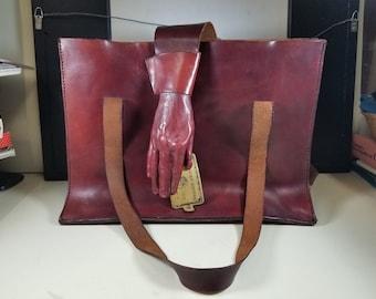 acab2ebfdc1f Original Marcia Lloyd Large Cowhide Bag 1984 USA Artist Signed Handbag Purse