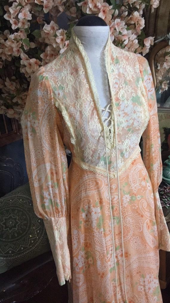 1970s Prairie Rennaisance Dress Gunne Sax Style - image 2