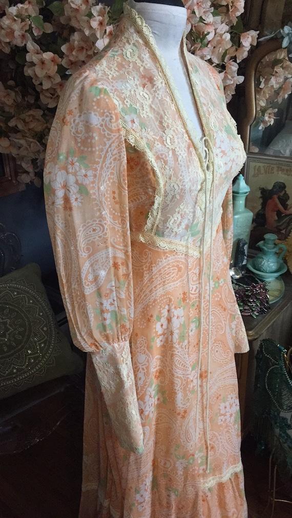 1970s Prairie Rennaisance Dress Gunne Sax Style - image 4