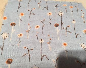 Kokka Far Far Away 3 Blue Meadow Flowers  set by Heather Ross FQ
