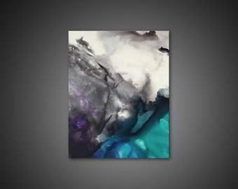 modern canvas art. Abstract Canvas Art - Wall Art, PRINT, Modern Giclee Print, Large Painting