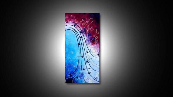Music Wall Art Music Art Modern Paintings Canvas Art Prints Abstract Canvas Art Abstract Painting Giclee Print Modern Art 15x30