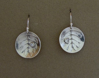 Silver Dish Earrings