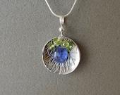 Dish pendant with Tanzani...