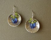 Silver dish earrings with...