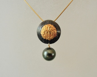 SIlver necklace with Tahitian Pearl