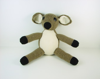 Medium Hand Knit Deer