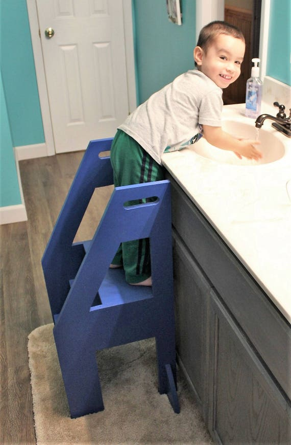 Downloadable Woodworking Plans For A Toddler Kitchen Helper Step Stool
