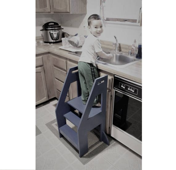 Cool Downloadable Woodworking Plans For A Toddler Kitchen Helper Step Stool Creativecarmelina Interior Chair Design Creativecarmelinacom