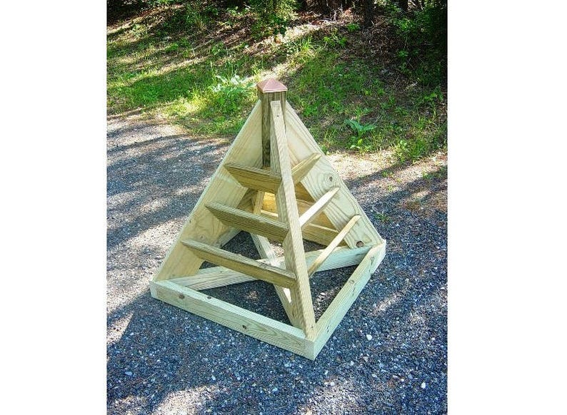 Downloadable Woodworking Plans for a 3 ft. Strawberry Pyramid image 0